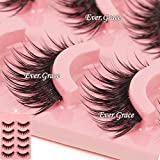 ICYCHEER Makeup 5 Pairs Natural Long Eye Lashes Handmade Thick False Eyelashes Black