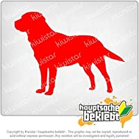 ラブラドールレトリーバー犬 Labrador Retriever Dog 13cm x 10cm 15色 - ネオン+クロム! ステッカービニールオートバイ