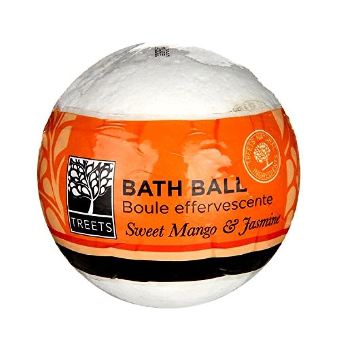 地区高揚したアンビエントTreets甘いマンゴーとジャスミンバスボール - Treets Sweet Mango and Jasmine Bath Ball (Treets) [並行輸入品]