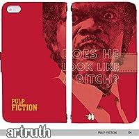 パルプ・フィクション PULP FICTION 手帳型 iPhone6Plus (iPhone 6 Plus) (G007601_04) 専用 映画 ジョン・トラボルタ ユマ・サーマン pop art センス 個性的 スマホケース