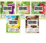 【 新商品 2017 Ver 】 マンナンライフ 蒟蒻畑(こんにゃく畑) 最新人気アソート5種<ぶどう味・白桃味・りんご味・パイナップル味・コーヒー味>× (25g×12個) 合計5袋(60個)