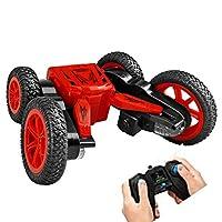 RCリモートコントロールカーリモート制御車のおもちゃスタントカーレース電動両面トラック360回転rcカーのおもちゃギフト用男の子子供大人グリーン,red