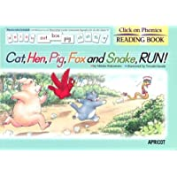 "Click on Phonics シリーズ READING BOOK ""Cat, Hen Pig,Fox, and Snake, RUN !"""