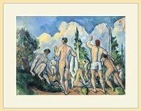セザンヌ・「Bathers 2」 プリキャンバス複製画・ 額付き(デッサン額/大衣サイズ/木地色)