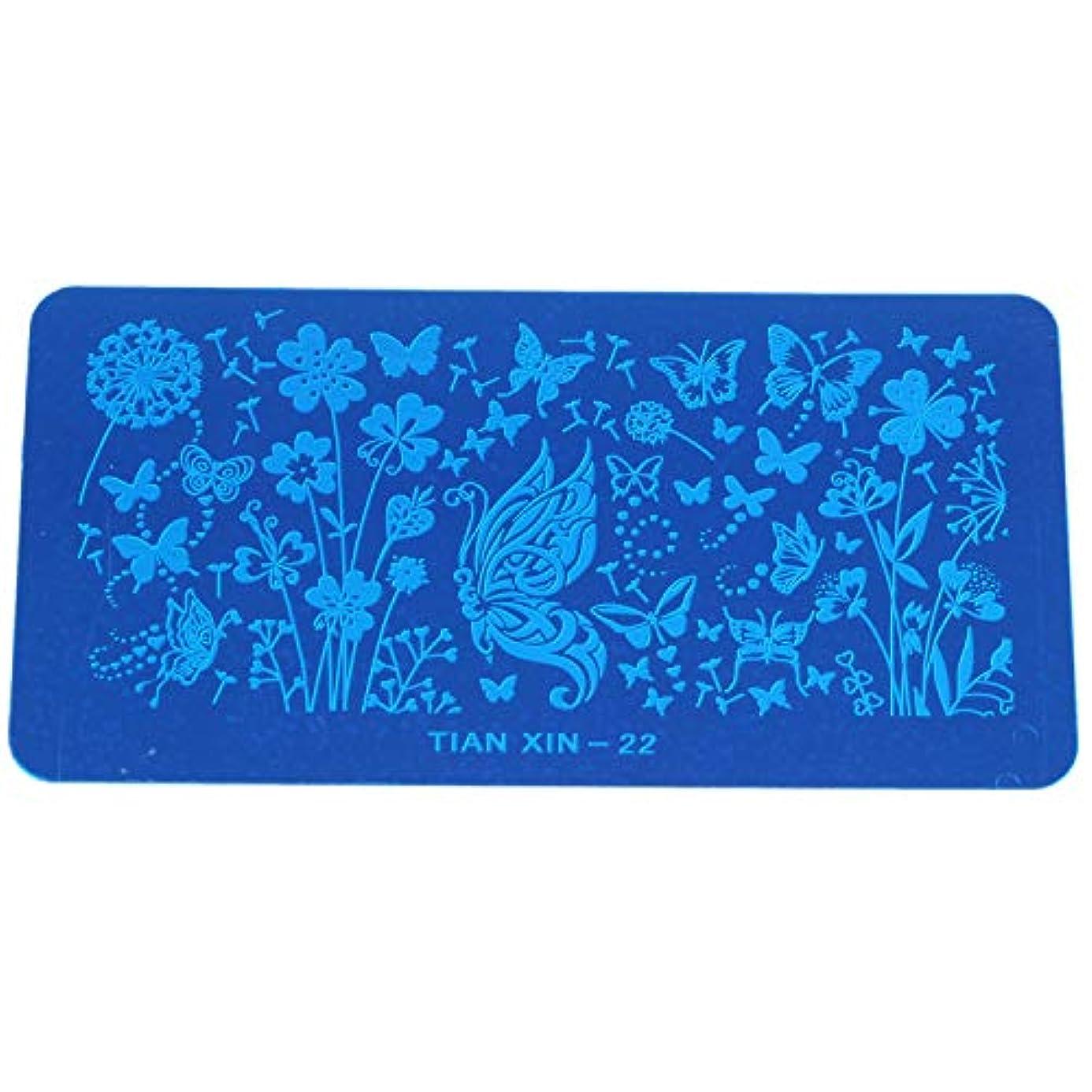 表面ブリード電子ACAMPTAR DIY 青いフィルムプリント長方形プレート 22#