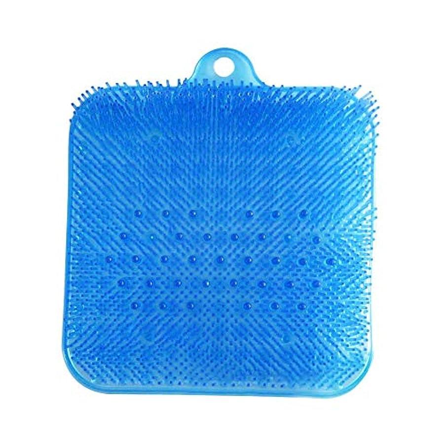 フットマッサージャー マッサージ マット 足洗いマット 足洗いブラシ バスマット リフレクソロジーブラシクリーニングブラシ 环保pvc 角質除去 血行促進 水虫予防 丈夫 耐用 使い方が簡単 壁掛けフック付き 2723.53.5 Cm