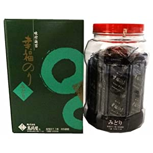 髙岡屋 味付のり(みどり) 65束丸瓶 12切5枚×65束