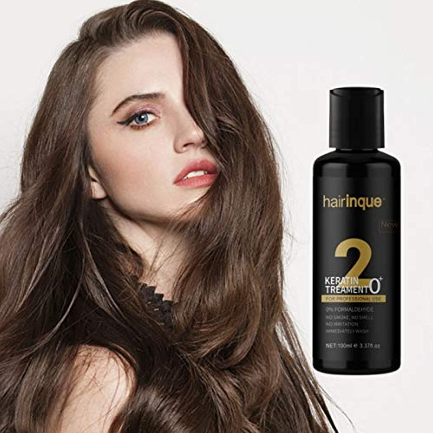 枝条件付き贅沢なホルムアルデヒドフリーケラチンヘアケア, 無臭無煙無刺激, なめらかで輝く髪、破損を修復 ストレングスナイスウィークヘア, 100ml Formaldehyde-free Keratin Hair Care, No Smell...