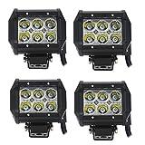 Daiwin LED ワークライト 18W led 作業灯 12v 24v 兼用 狭角 CREE 10-30VDC IP67 省エネ 船舶/各種作業車対応 簡単設置 【4個セット】