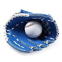 """野球グローブ ハンドウーブンレザートレーニンググローブ内野投手野球グローブ 野球 軟式 グローブ (Color : Blue, Size : Child 10.5"""")"""