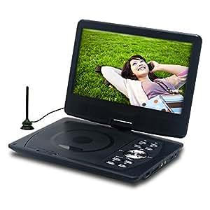 10.1型 フルセグ 地デジ テレビ TV チューナー 搭載 ポータブルDVDプレーヤー リージョンフリー ( 安心の1年保証 / 充実の国内サポート / 車ヘッドレス用 取付 バッグ 付属 )