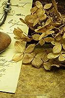 Mein Tagebuch: Journal - Vintage-Motiv - Brief - Getrocknete Hortensienbluete - Taschenuhr - Insgesamt 135 Seiten - Masse ca. DIN A5