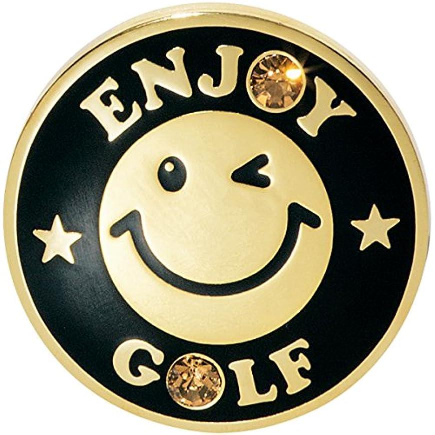 主導権びっくり威信WINWIN STYLE ウィンウィンスタイル ラウンド小物 ENJOY GOLF Gold Ver. マーカー MM-27 ブラック