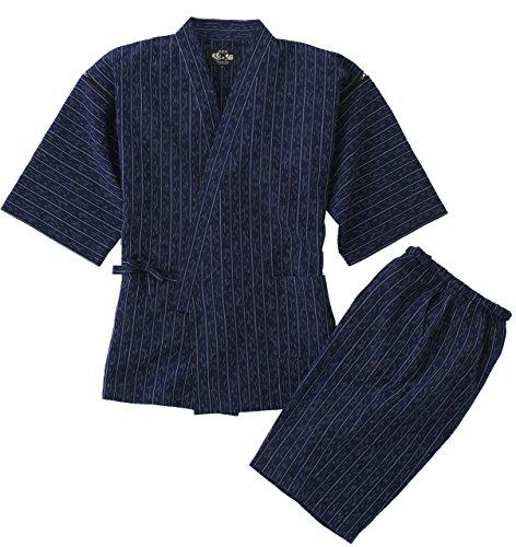 久留米ちぢみ織麻混甚平  カラー:紺 サイズ:Mサイズ