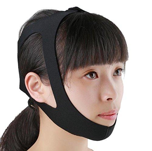 【TechnoHealth】選べる いびき防止 小顔矯正 顎関節症 マルチ 顎 サポーター 簡単脱着 (タイプA)