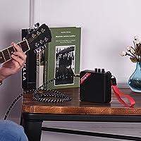 Rakuby MS-5ポータブル ミニ ギターアン プアンプスピーカー 5Wサポート カードスロットヘッド フォン出力 BT接続