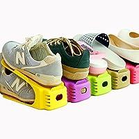 靴収納 靴ホルダー 靴スタンドシューズボックス シューズホルダー 省スペース 男女兼用 シューズラック 廊下 玄関収納 レック 省スペース 靴立て 耐久性ストレージラック 主婦のヘルパー 8色8個セット シューズ すっきり 整理 (8色8個セット)