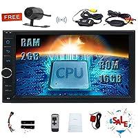 クアッドコア2ギガバイトのRAM 16ギガバイトROMとEinCarのAndroid 8.1のカーステレオダブル2DIN GPSナビゲーション7インチ1024 * 600容量性タッチスクリーンのサポートSWC WIFI Bluetoothの1080PビデオAM / FM/USBミラーリンクワイヤレスバックアップカメラ
