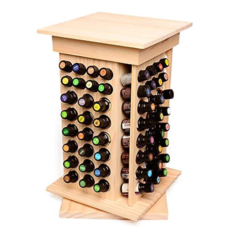 うめき含める記念104スロット木製オイルケースホルダーパーフェクトエッセンシャルオイルストレージ アロマセラピー製品 (色 : Natural, サイズ : 40.5X23.5X23.5CM)