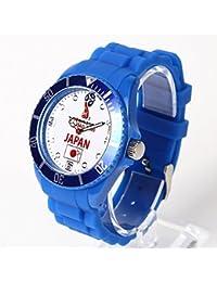 FIFA公認 2018 ワールドカップ ロシア サッカー 日本代表 腕時計 メンズ レディース キッズ (ホワイト)