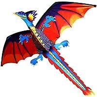 Kosei ドラゴンカイト 立体凧 子ども 大人 アウトドアスポーツ用 100mライン付き