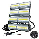 LED投光器,LED作業灯,400W 6300W相当 COBチップ 64000LM 240度 看板灯 街路灯 駐車場灯 昼光色 防水 アース付き コンセント式 1年保証