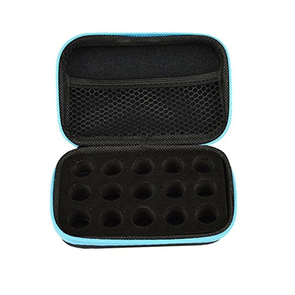 相反するアンティークためにhouse-by アロマポーチ エッセンシャルオイル ケース 携帯用 アロマケース メイクポーチ 精油ケース 大容量 アロマセラピストポーチ 15本の精油貯蔵袋1ML2ML3ML