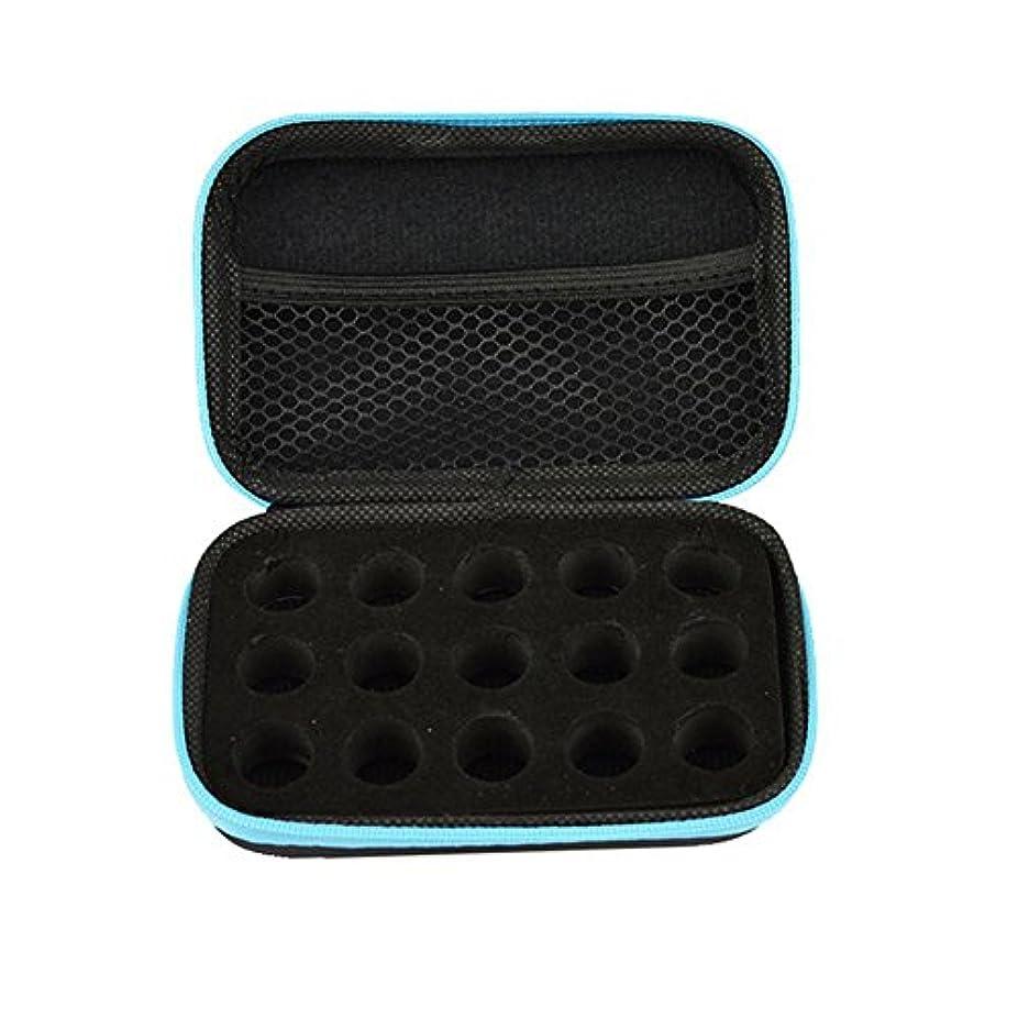 スカルク表示彼house-by アロマポーチ エッセンシャルオイル ケース 携帯用 アロマケース メイクポーチ 精油ケース 大容量 アロマセラピストポーチ 15本の精油貯蔵袋1ML2ML3ML