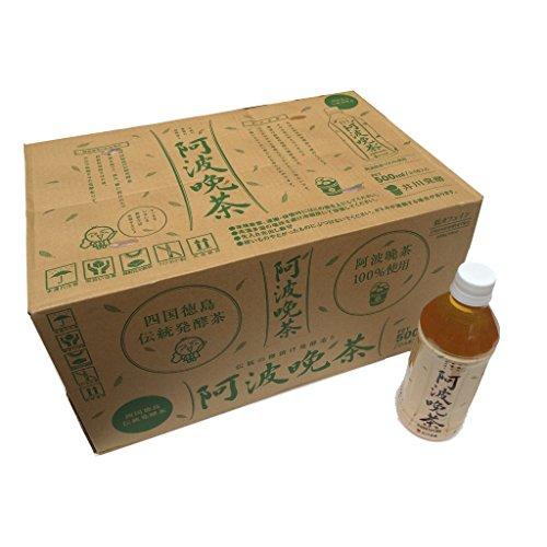 伝統発酵茶 阿波晩茶100%ペットボトル500ml × 24本入