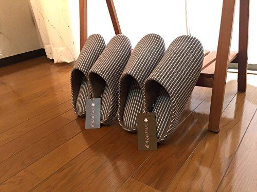 【コノハナサクヤ.jp】洗える スリッパ 2足 セット かわいい おしゃれ 来客 用 プレゼント 衛生的 洗濯可 ウオッシャブル ルーム シューズ (Mサイズ2足セット)