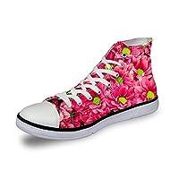 スニーカー キャンバス レディース 帆布 カジュアル 靴 シューズ 3Dプリント 花柄 個性的 軽量 通気 おしゃれ ファッション 通勤 通学 プレゼント 6色 ThiKin