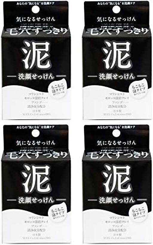 分析的な肯定的サスペンション【まとめ買い】気になる洗顔石けん 泥【×4個】
