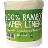Comfy Solutions Bamboo Nappy Liners Natural and Unbleached Biodegradable Anti-Bacterial Hypoallergenic Alcohol Free Fragrance
