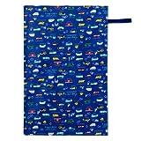 おむつ替えシート 薄 防水 ベビー 日本製 赤ちゃん アクセル全開はたらく車(スケアー地・ロイヤルブルー) B0703800