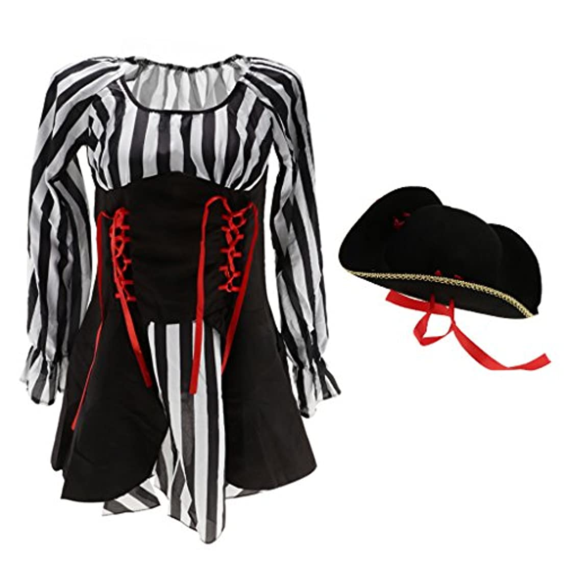 メディカル感覚バルクFenteer 女性 海賊 ドレス 帽子 派手な パーティー コスプレ 仮装 コスチューム