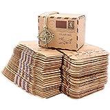 Flushbay ギフトボックス 50個セット キャンディ ボックス お菓子箱 パーティー 結婚式 誕生日用ボクス 贈り物 好意 ギフトボックス (褐色)