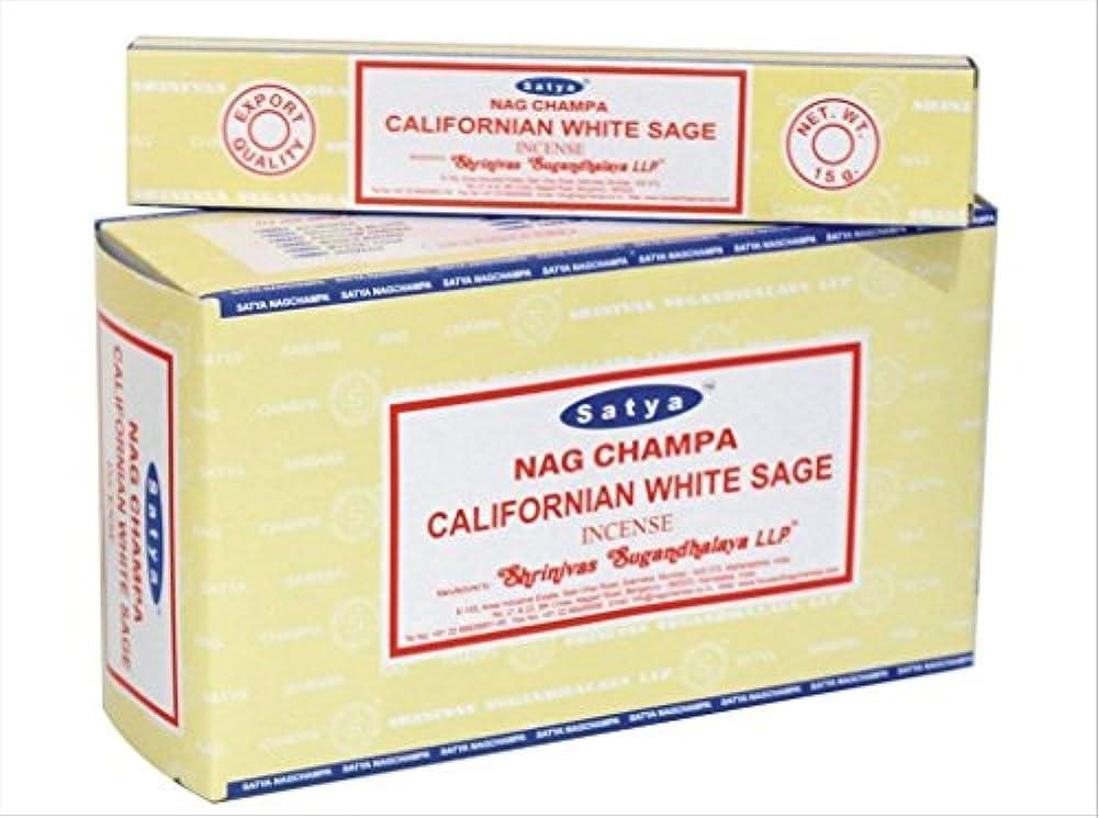 ギャンブル大学以降chi-city Mall Satya Nag Champa Californianホワイトセージお香|署名Fragrance | Net Wt : 15 g x 12ボックス= 180 g | Exclusivelyインド...