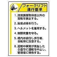 【816-35】フォークリフト標識 運行基準