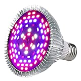 Esbaybulbs 50W相当 植物育成ライト フルスペクトル E26 プラントライト 水耕栽培 LED植物育成バ ルブ 電球 ガーデン 温室フラワー 室内用ランプ 植物の成長促進する