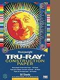 Tru - Ray Constructionペーパー、76ポンド。、12x 18、暖かいブラウン、50シート/パック、として販売50シート