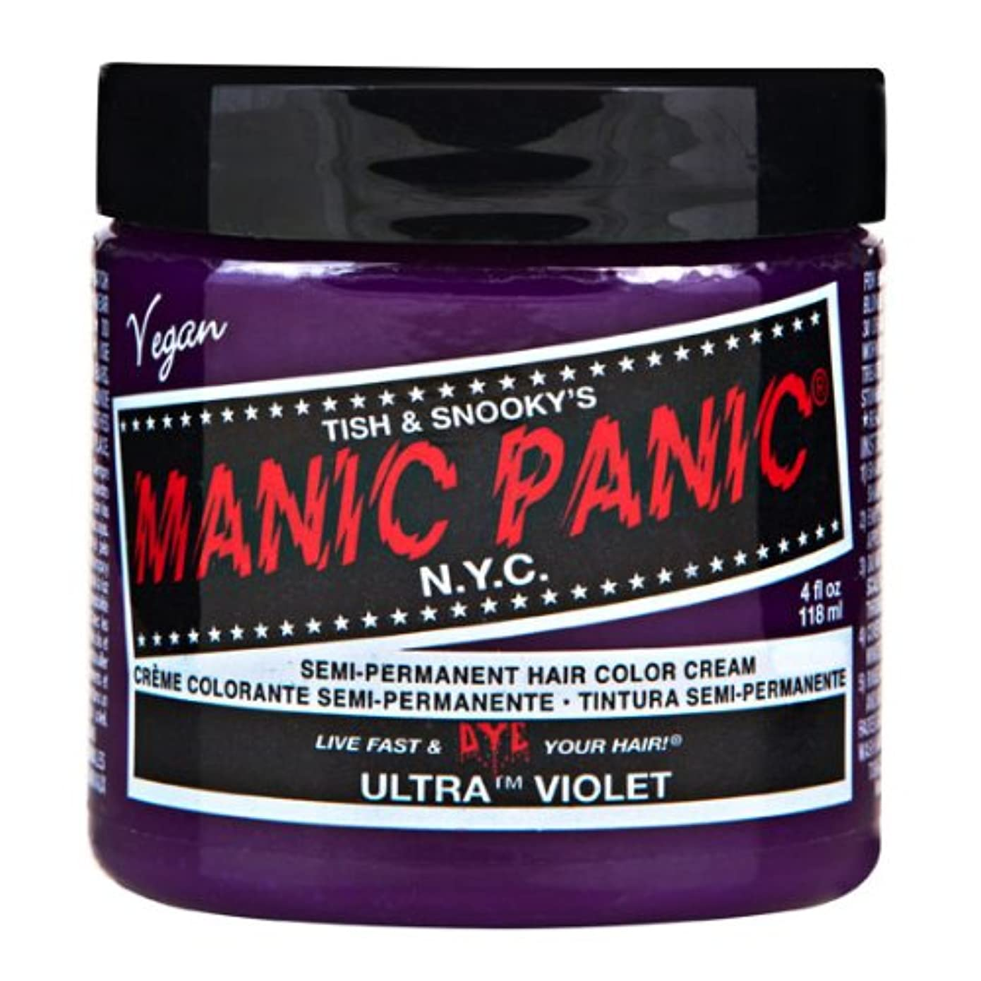嫌い義務飢えマニックパニック MANIC PANIC ヘアカラー 118mlウルトラヴァイオレット ヘアーカラー