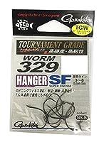 がまかつ(Gamakatsu) ワームフック ワーム 329 ハンガーSF 4号 8本 NSブラック 68022