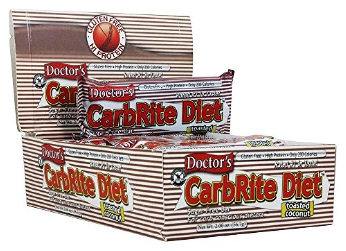 大使館災難生Doctor's CarbRite Diet Toasted Coconut Bars, 2 oz, 12 count by Universal Nutrition