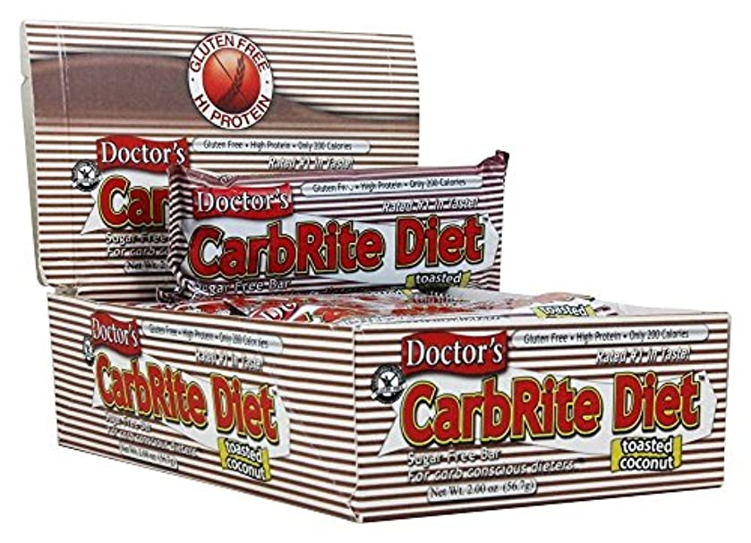 実り多いインサートレンドDoctor's CarbRite Diet Toasted Coconut Bars, 2 oz, 12 count by Universal Nutrition