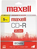 Maxell CD-R 80 Gold Recordable Music Cd's-5pk [オンデマンド(CD-R)]