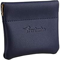 Travelambo Genuine Leather Squeeze Coin Purse Pouch Change Holder For Men & Women