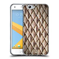Head Case Designs ブラウン メタリック・ドラゴンスケール HTC One A9s 専用ソフトジェルケース