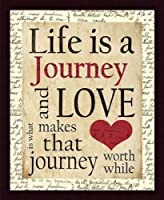 Printfinders Life is a Journey by Dee Dee Wall Decor [並行輸入品]