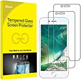 """JETech Screen Protector for Apple iPhone 8 and iPhone 7, 4.7"""", Tempered Glass Film, 2-Pack"""