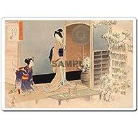 日本 (Japan) 浮世絵 (Ukiyoe) マウスパッド (Mausupad) 11012 水野年方 - 茶の湯日々草 後入りしらせの図